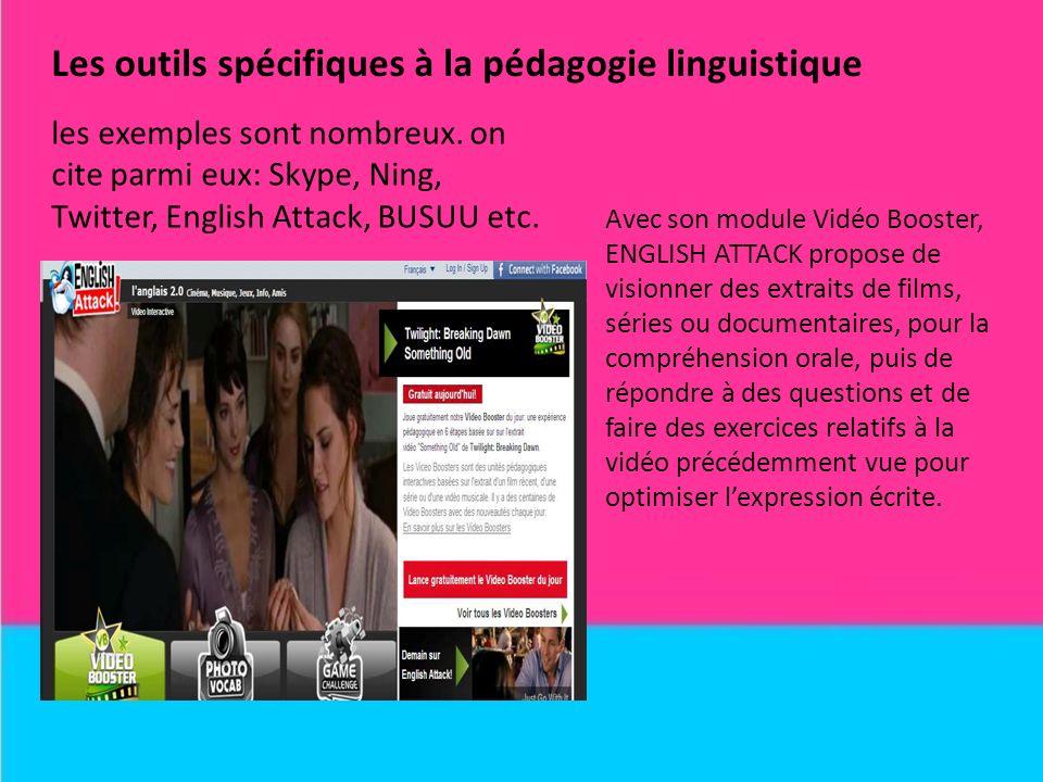 Les outils spécifiques à la pédagogie linguistique