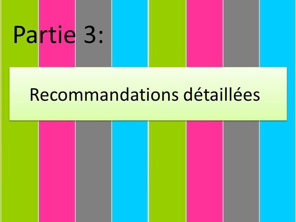 Recommandations détaillées