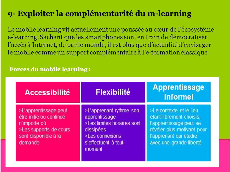 9- Exploiter la complémentarité du m-learning