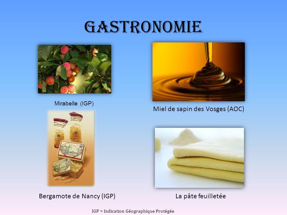 Gastronomie Miel de sapin des Vosges (AOC) Bergamote de Nancy (IGP)