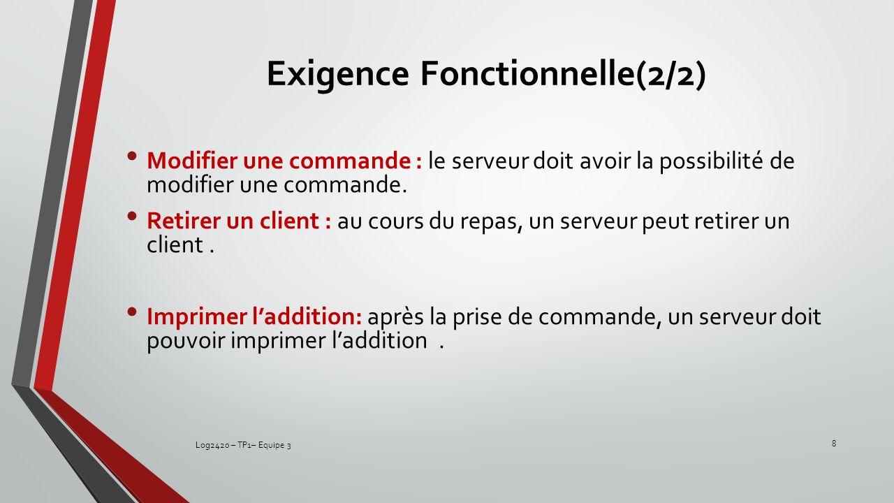 Exigence Fonctionnelle(2/2)