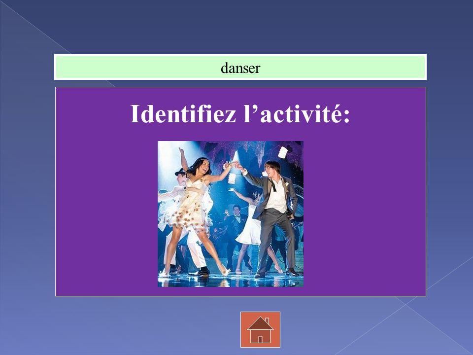 Identifiez l'activité: