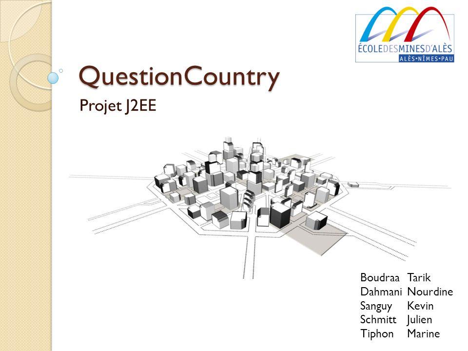 QuestionCountry Projet J2EE Boudraa Tarik Dahmani Nourdine