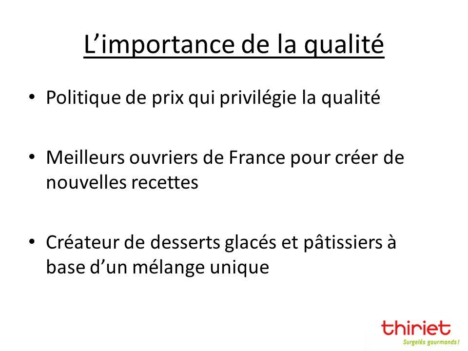 L'importance de la qualité