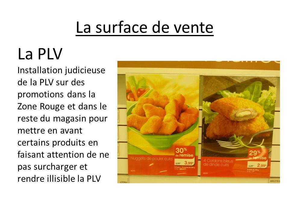 La surface de vente La PLV Installation judicieuse de la PLV sur des