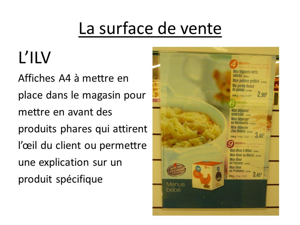 La surface de vente L'ILV Affiches A4 à mettre en