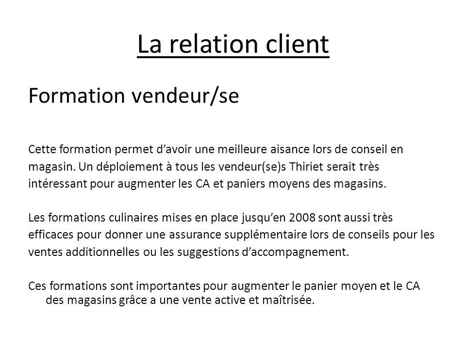 La relation client Formation vendeur/se