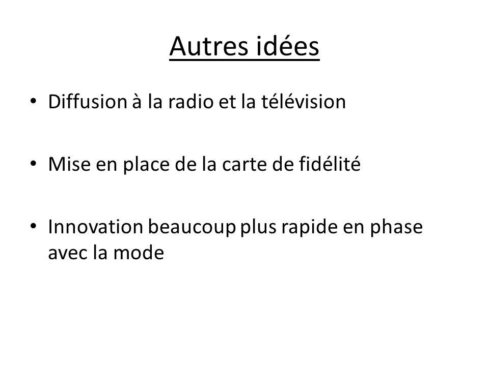 Autres idées Diffusion à la radio et la télévision