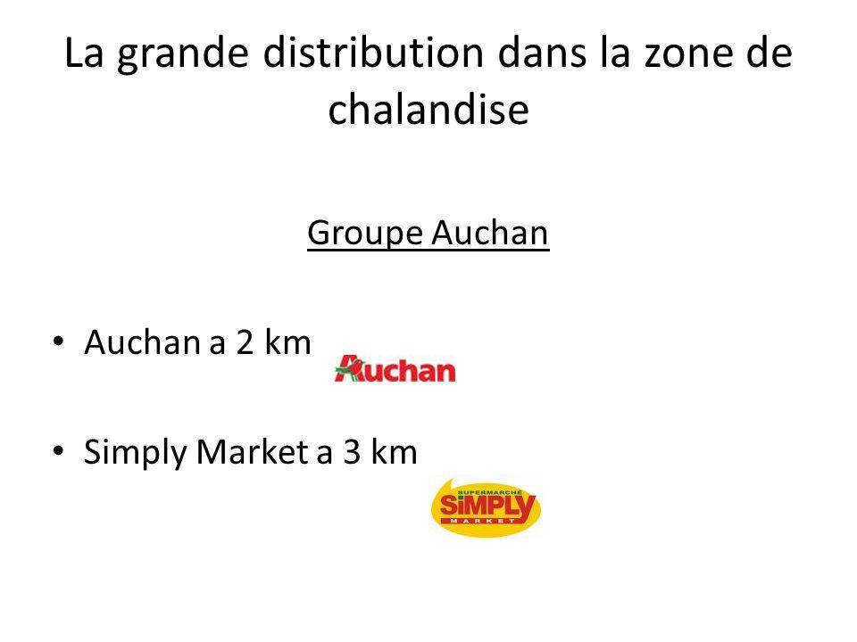 La grande distribution dans la zone de chalandise