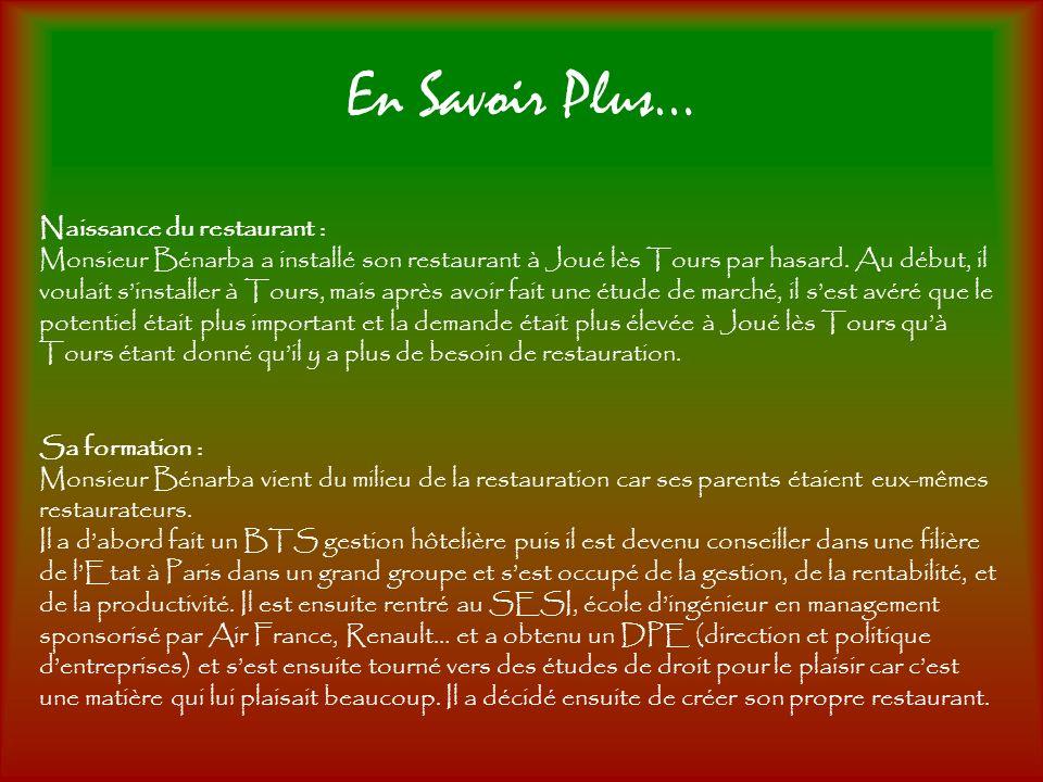 En Savoir Plus… Naissance du restaurant :