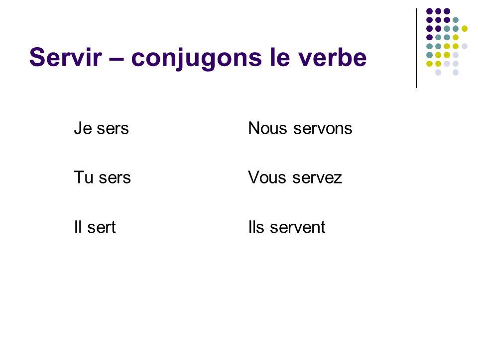 Servir – conjugons le verbe