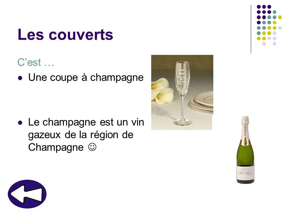 Les couverts C'est … Une coupe à champagne