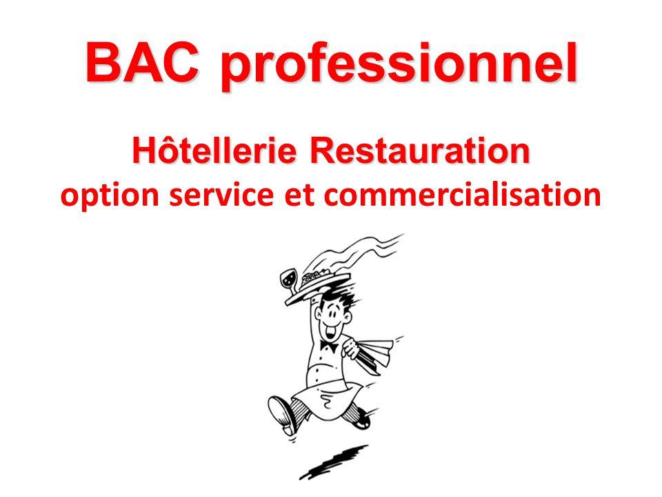Hôtellerie Restauration option service et commercialisation