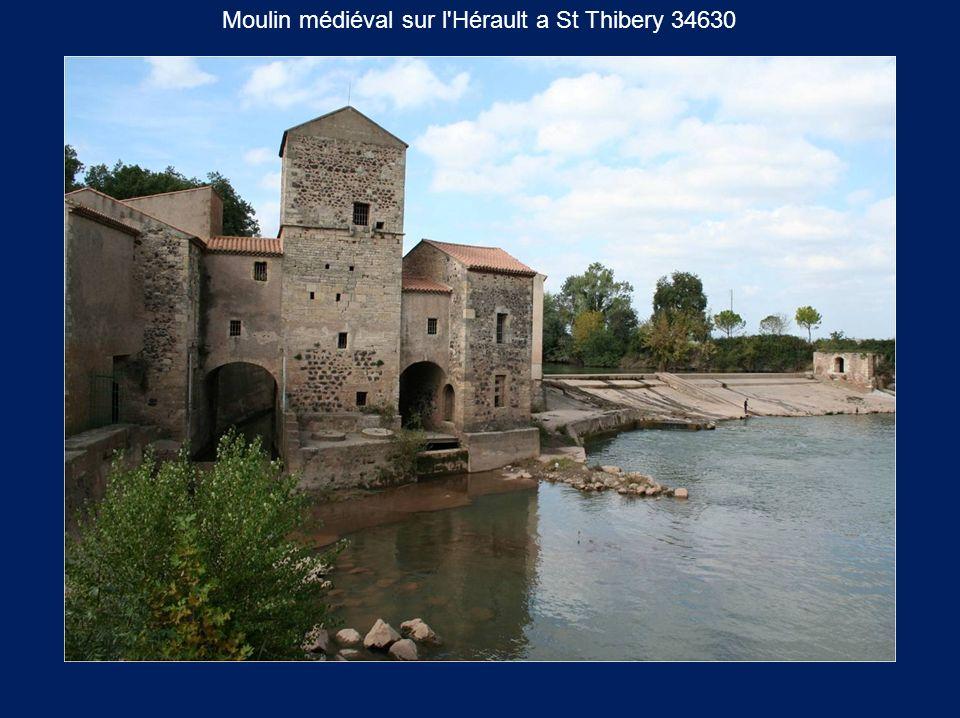 Moulin médiéval sur l Hérault a St Thibery 34630