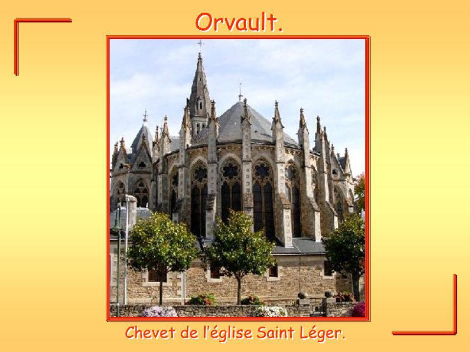 Chevet de l'église Saint Léger.