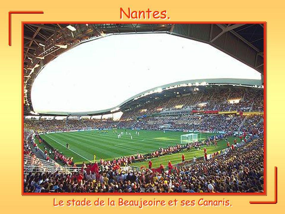 Le stade de la Beaujeoire et ses Canaris.