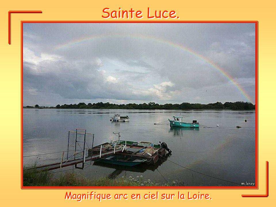 Magnifique arc en ciel sur la Loire.
