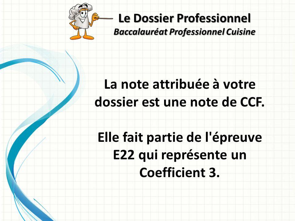 La note attribuée à votre dossier est une note de CCF.