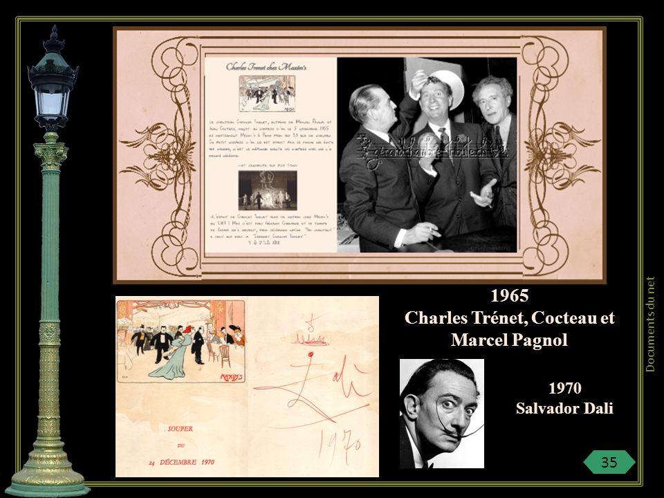 Charles Trénet, Cocteau et Marcel Pagnol