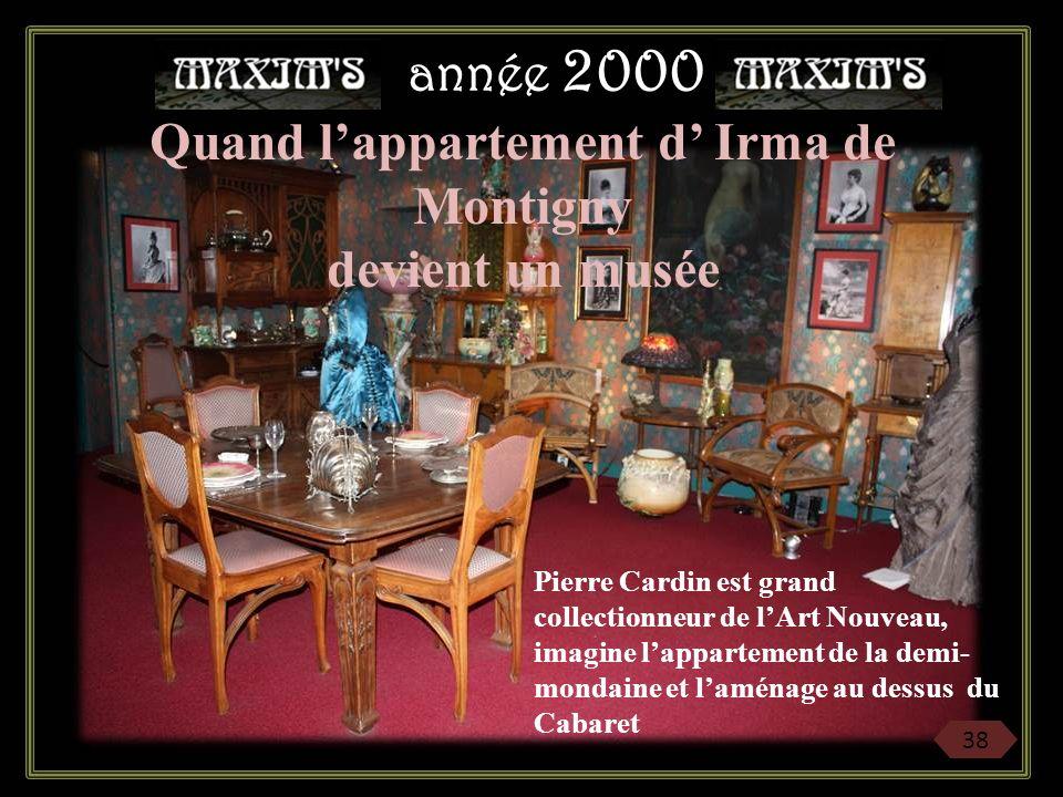 Quand l'appartement d' Irma de Montigny