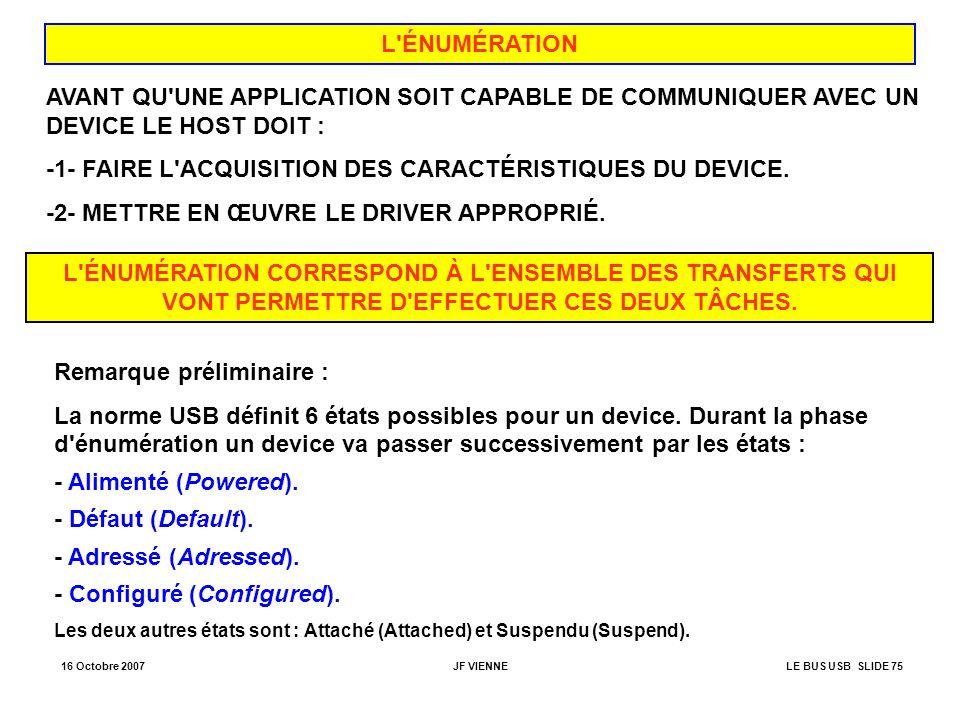 -1- FAIRE L ACQUISITION DES CARACTÉRISTIQUES DU DEVICE.