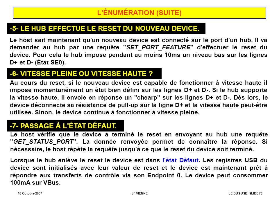 -5- LE HUB EFFECTUE LE RESET DU NOUVEAU DEVICE.