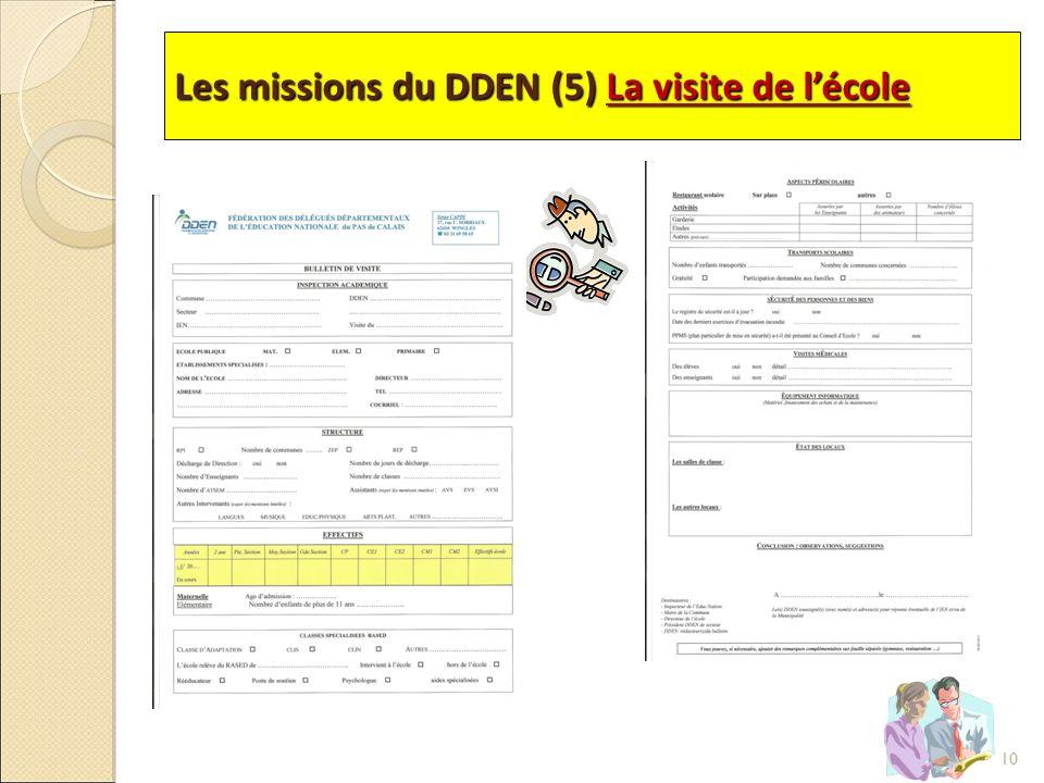 Les missions du DDEN (5) La visite de l'école