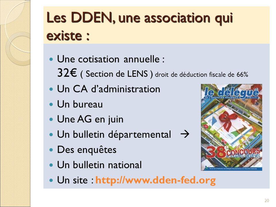 Les DDEN, une association qui existe :