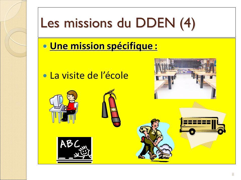 Les missions du DDEN (4) Une mission spécifique : La visite de l'école