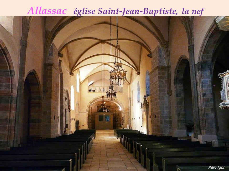 Allassac église Saint-Jean-Baptiste, la nef