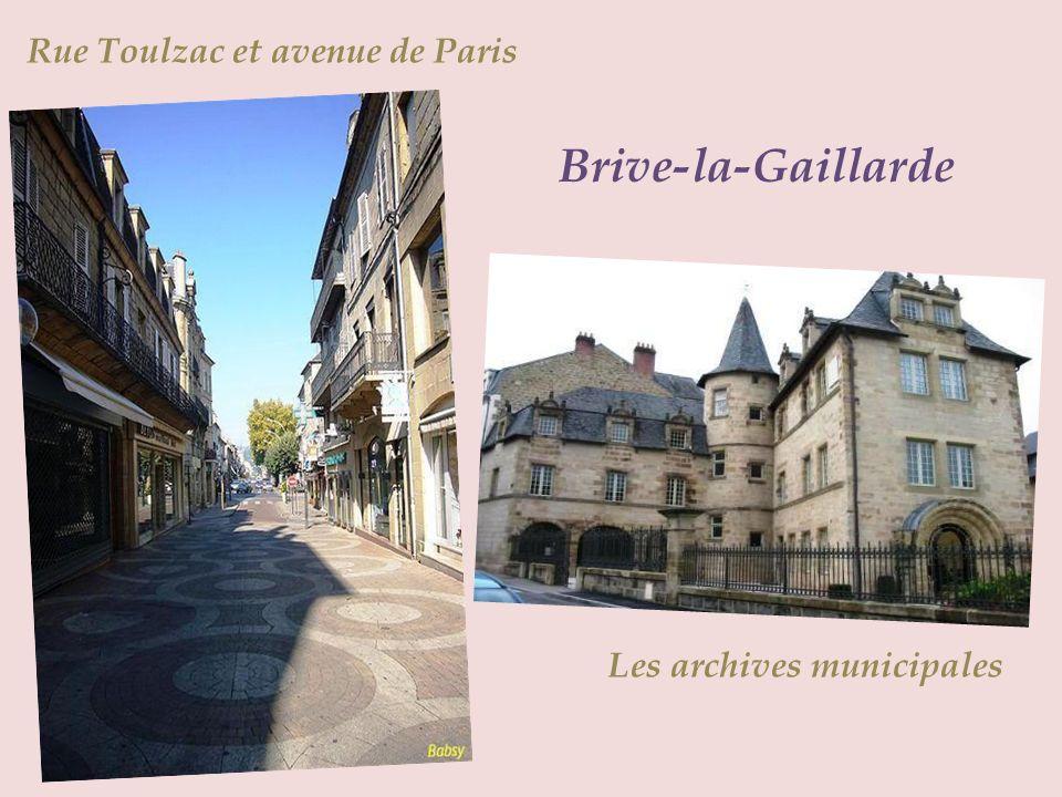 Brive-la-Gaillarde Rue Toulzac et avenue de Paris