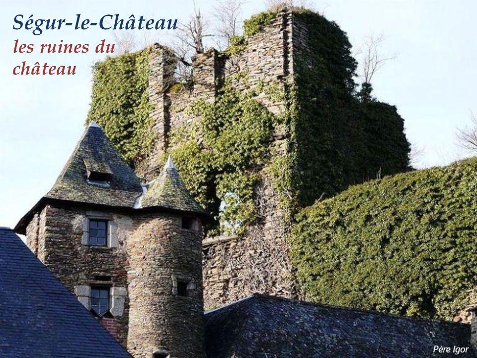 Ségur-le-Château les ruines du château