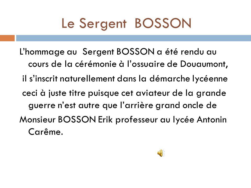 Le Sergent BOSSON