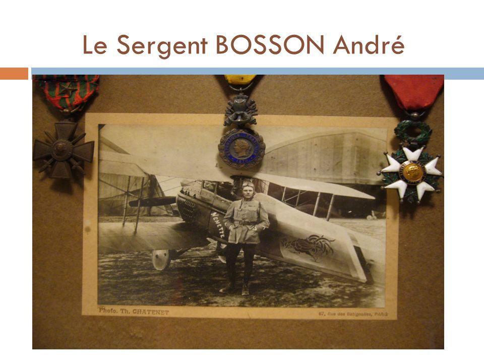 Le Sergent BOSSON André