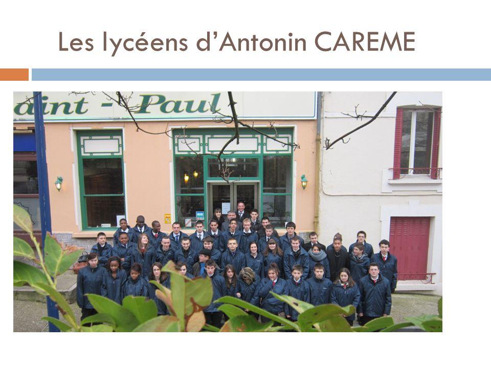 Les lycéens d'Antonin CAREME