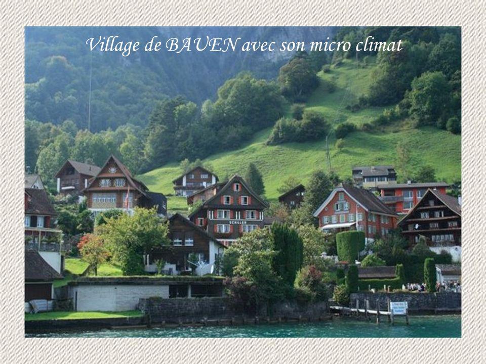 Village de BAUEN avec son micro climat