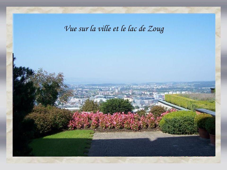 Vue sur la ville et le lac de Zoug