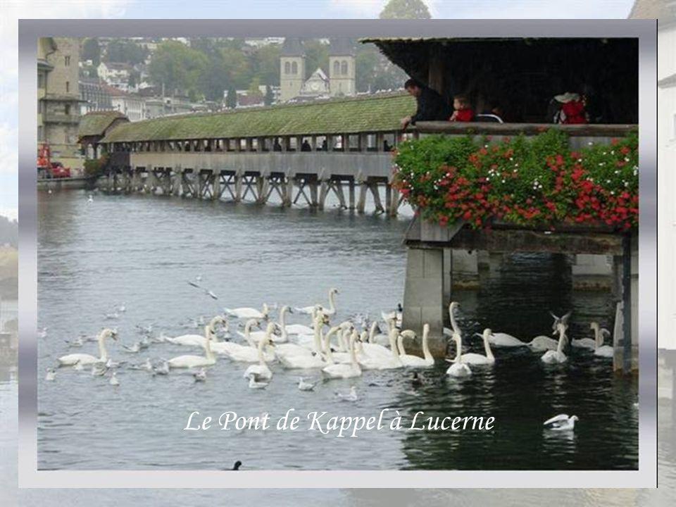 Le Pont de Kappel à Lucerne