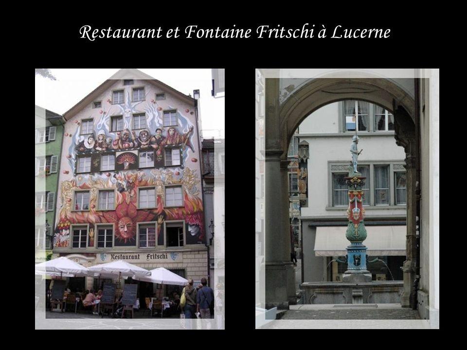 Restaurant et Fontaine Fritschi à Lucerne