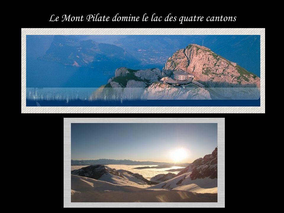 Le Mont Pilate domine le lac des quatre cantons