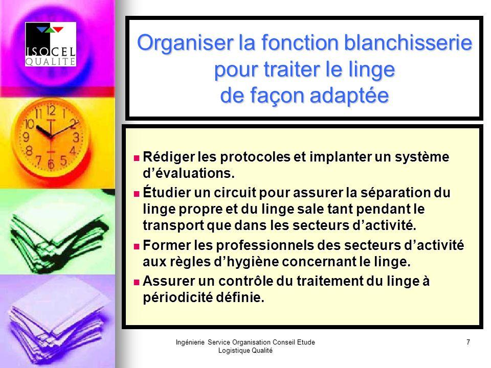 Ingénierie Service Organisation Conseil Etude Logistique Qualité