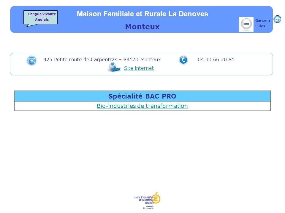 Maison Familiale et Rurale La Denoves