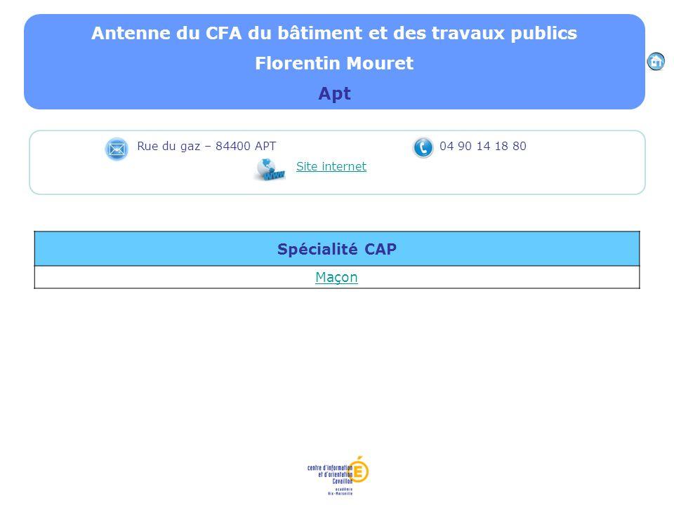 Antenne du CFA du bâtiment et des travaux publics