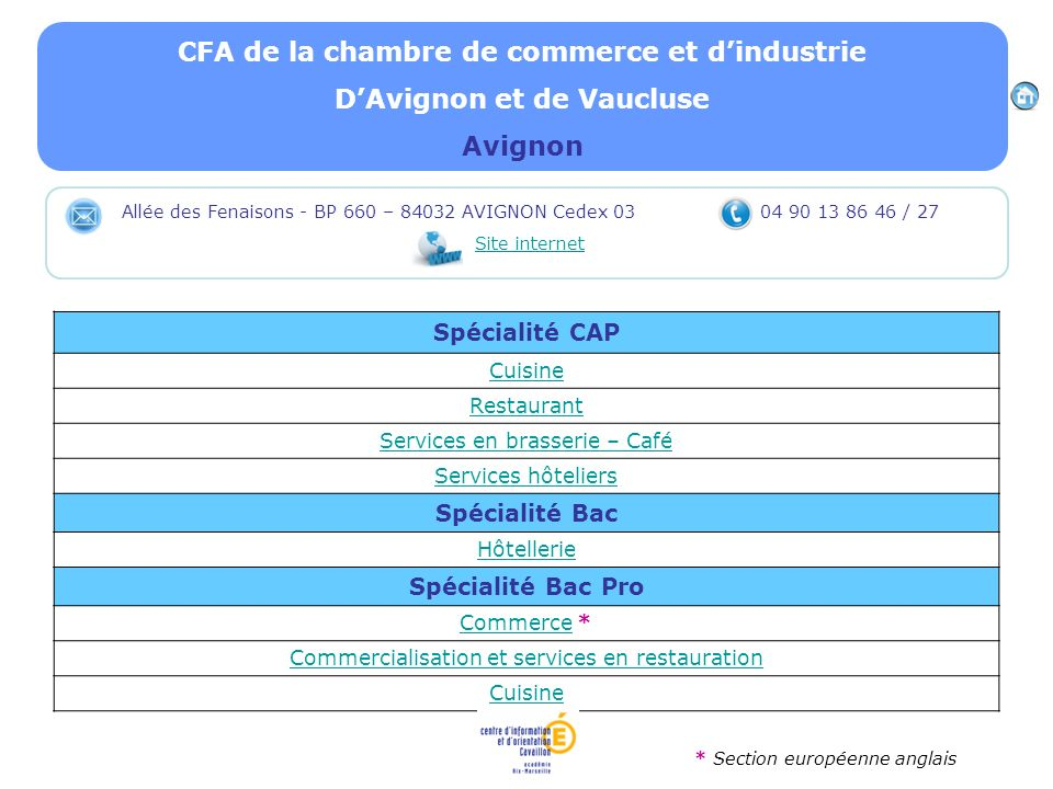Les tablissements formant ppt video online t l charger for Chambre de commerce et d industrie de