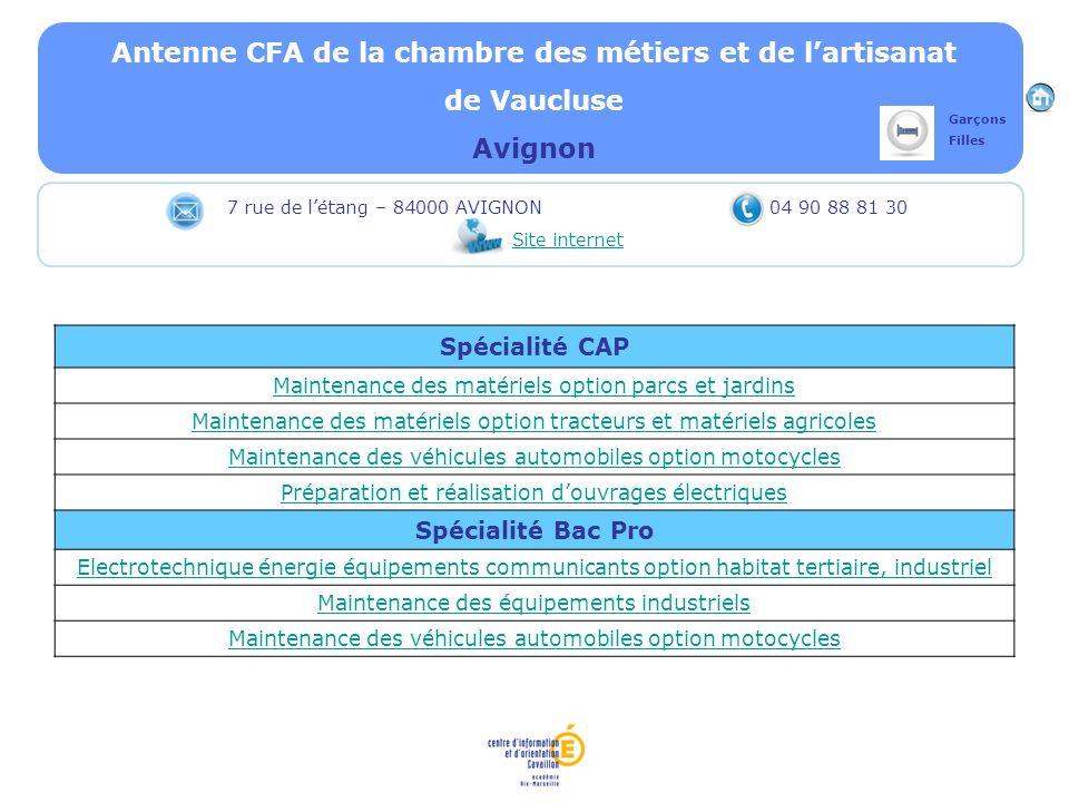Antenne CFA de la chambre des métiers et de l'artisanat