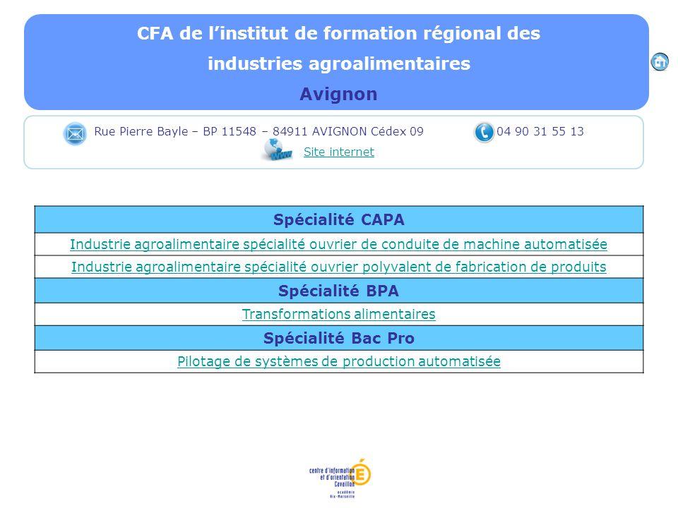 CFA de l'institut de formation régional des