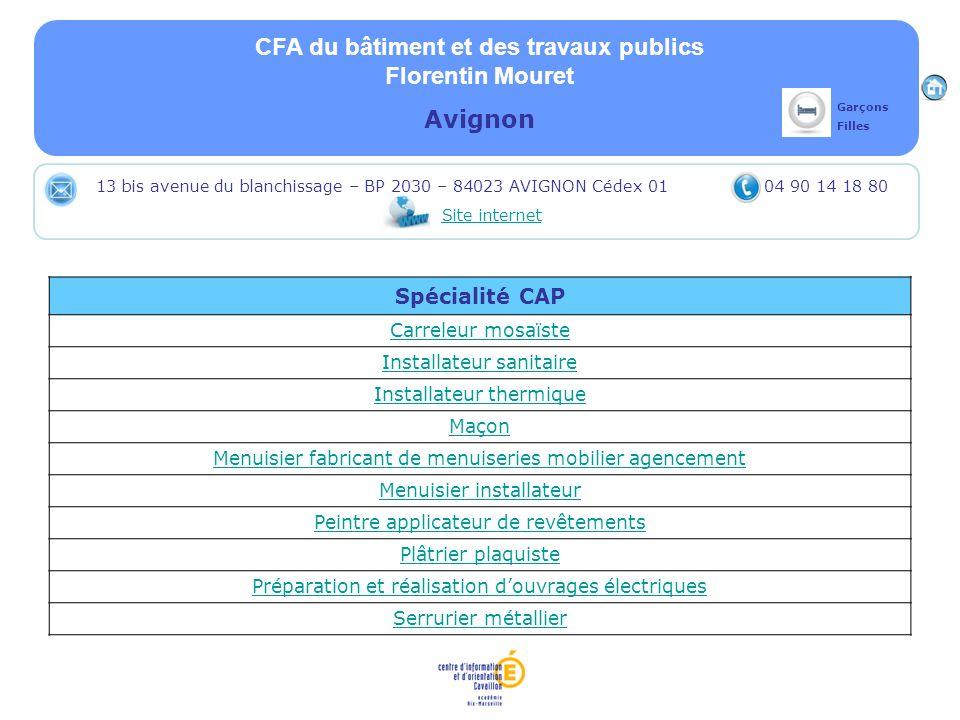 CFA du bâtiment et des travaux publics