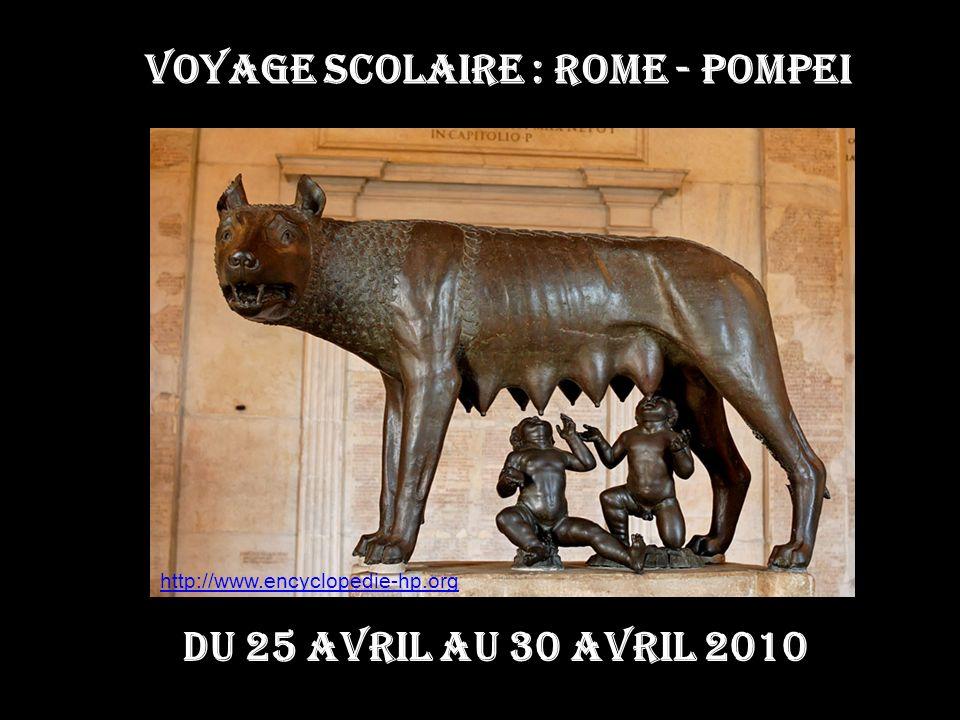 VOYAGE SCOLAIRE : ROME - POMPEI