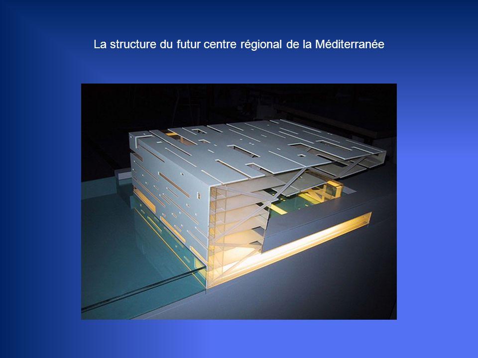 La structure du futur centre régional de la Méditerranée