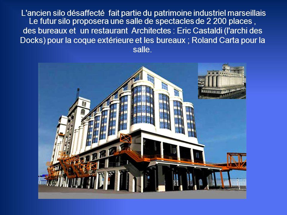 L ancien silo désaffecté fait partie du patrimoine industriel marseillais